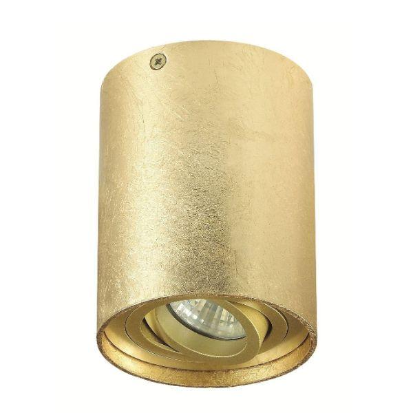 złota lampa sufitowa
