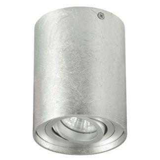 Srebrne oczko sufitowe Tuba Nero - nowoczesne
