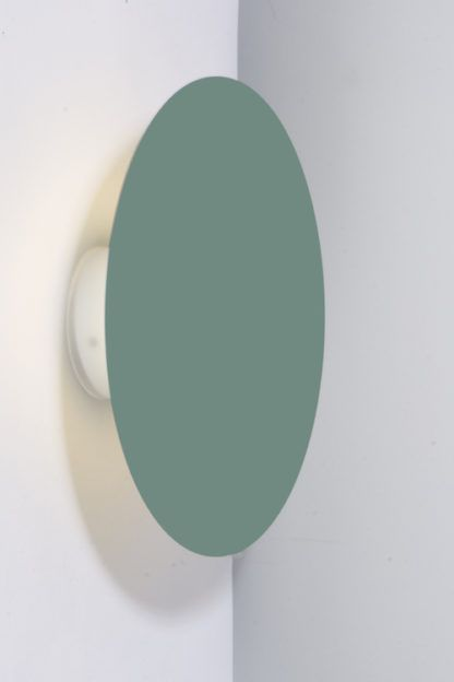 płaski kinkiet zielony do korytarza