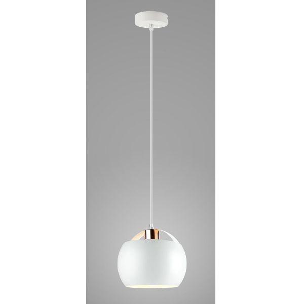 lampa wisząca z białym kloszem scandi