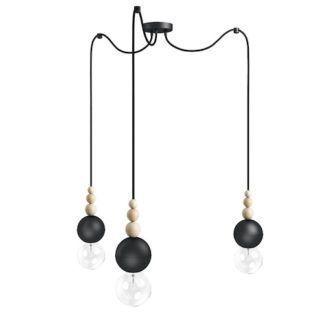Lampa żarówkowa Loft Bala 3 - czarna matowa