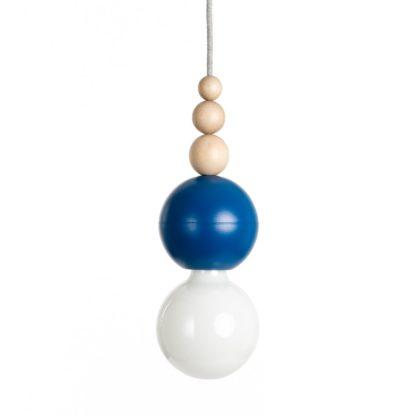 lampa wisząca niebieska do łazienki