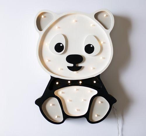 lampa dziecięca w kształcie pandy