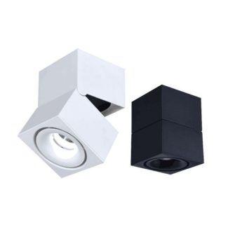 Biały spot Gedon - regulowana głowica, LED