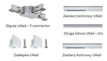 akcesoria do montażu oświetlenia szynowego paulmann
