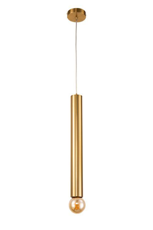 podłużna złota lampa wisząca