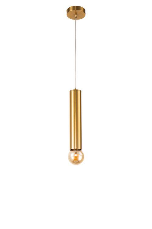 złota lampa w kształcie tuby