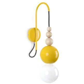 Kinkiet żarówkowy Loft Bala - żółty połysk