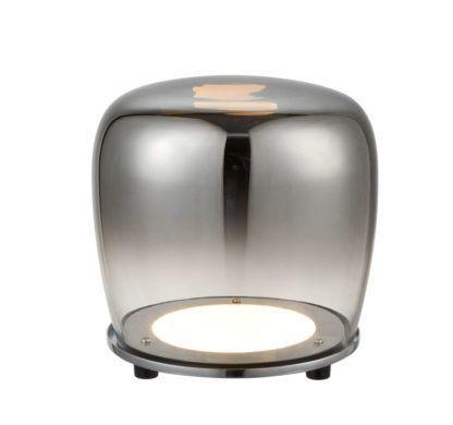 lampa stojąca ze szkła