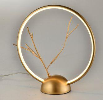 Lampa stołowa Davos złota LED