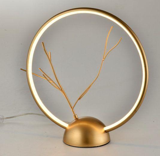 złota lampa okręg ledowy