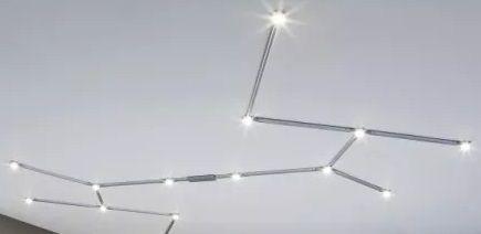 dobór oświetlenia szynowego do salonu - kształty