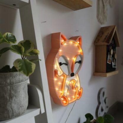 dziecięca lampa nocna lis