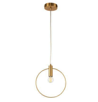 złota lampa wisząca z okręgiem