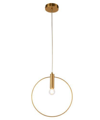 złota lampa wisząca z kołem