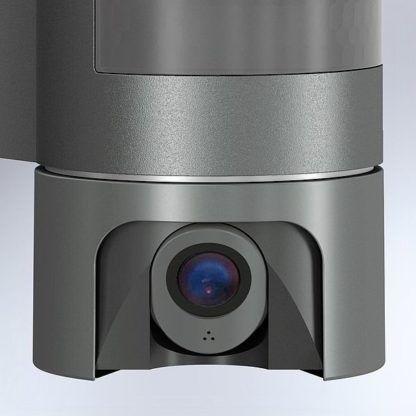 kamera z mikrofonem w lampie na zewnątrz wifi