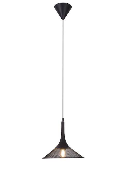 czarna lampa wisząca druciak