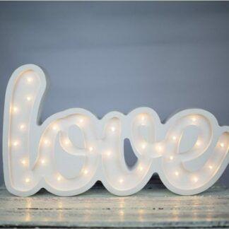 Lampa z napisem LOVE biała - LED