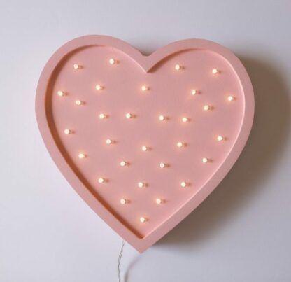 różowa lampa serce do pokoiku
