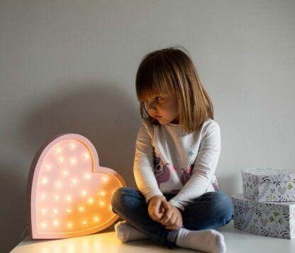 lampka serce dla dziewczynki