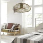 lampa wisząca do pokoju - złota druciana