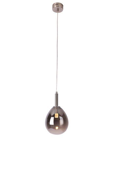 lampa wisząca z szarego szkła