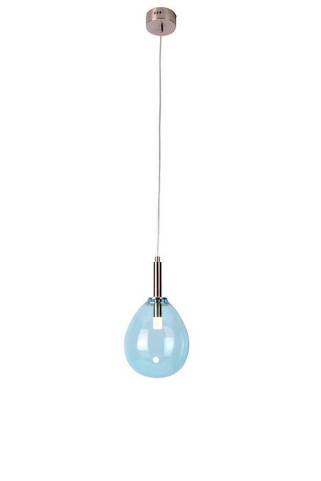 niebieska lampa wisząca led