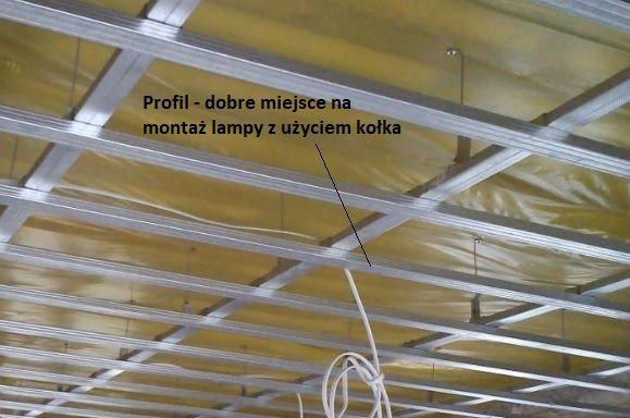 lampy sufitowe montaż