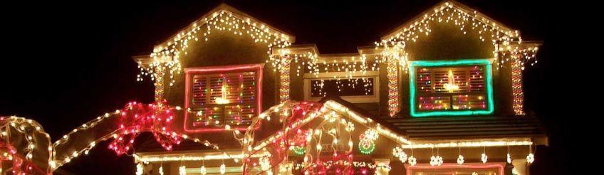 oświetlenie domu na święta