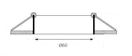 otwór pod oczko sufitowe - wymiary