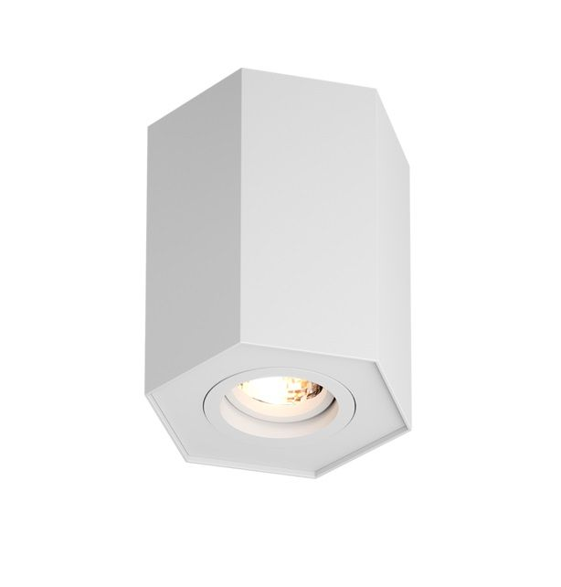 Biała lampa sufitowa Polygon - Zuma Line