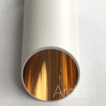 biała tuba ze złotym środkiem