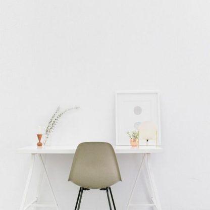 skandynawska lampa stołowa kula - do pokoju
