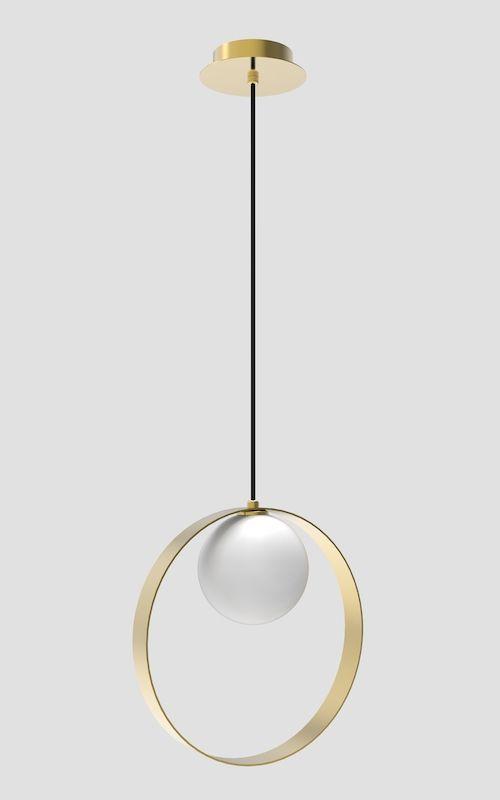 złota minimalistyczna lampa wisząca