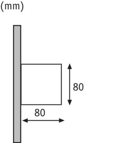 kwadratowy kinkiet elewacyjny
