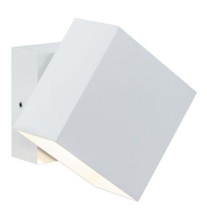 biały kinkiet zewnętrzny z regulacją światła