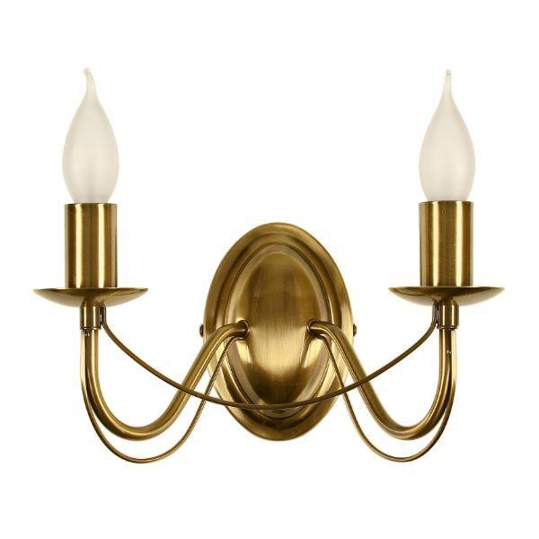 złoty kinkiet świecznikowy klasyczny