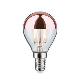 Miedziana żarówka Crown Mirror - E14, ciepłe światło
