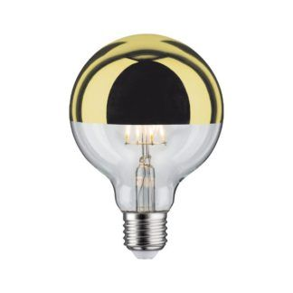 Dekoracyjna żarówka Crown Mirror - złota, LED