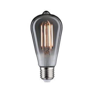 Szara żarówka dekoracyjna Special - LED, ciepłe światło