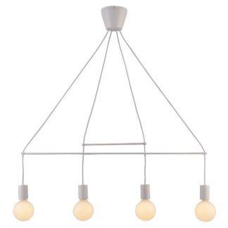 Biała lampa wisząca Alto - nowoczesna, 4 żarówki