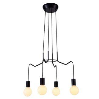 Czarna lampa wisząca Basso - nowoczesna