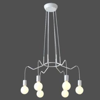 Lampa wisząca Basso - białe zawieszenia