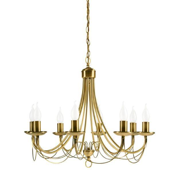złoty klasyczny żyrandol świecznikowy