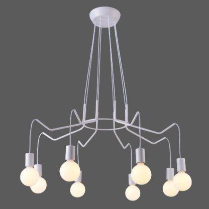 biały nowoczesny żyrandol do salonu