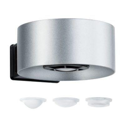 srebrny kinkiet zewnętrzny pionowe światło