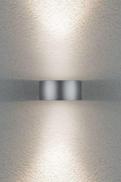 elewacyjny srebrny kinkiet