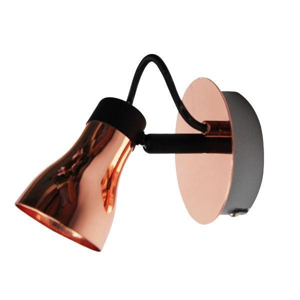miedziany reflektor nowoczesny metalowy