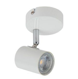 Biały kinkiet Halley - regulowany, LED