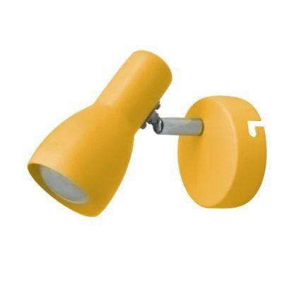 żółty kinkiet nowoczesny do pokoju dziecka